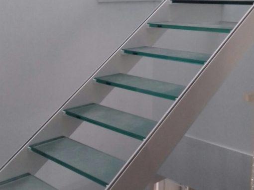 Escalones de cristal homologado.11