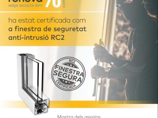 Ventanas de aluminio de seguridad Certificada