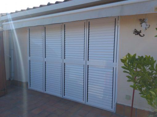 Ventana Mallorquina Plegable-Aluminio lama movil-Control Solar